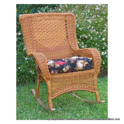 high back resin wicker chair from Hayneedle