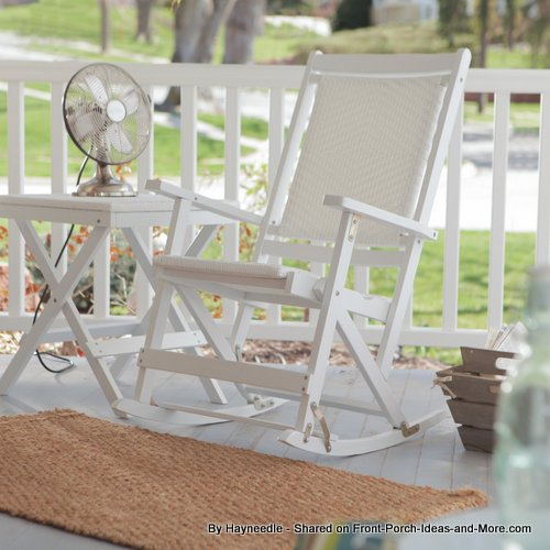 old-fashioned folding resin rocking chair from Hayneedle