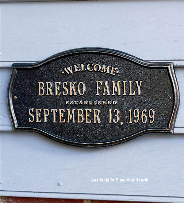 personalized heirloom plaque for home