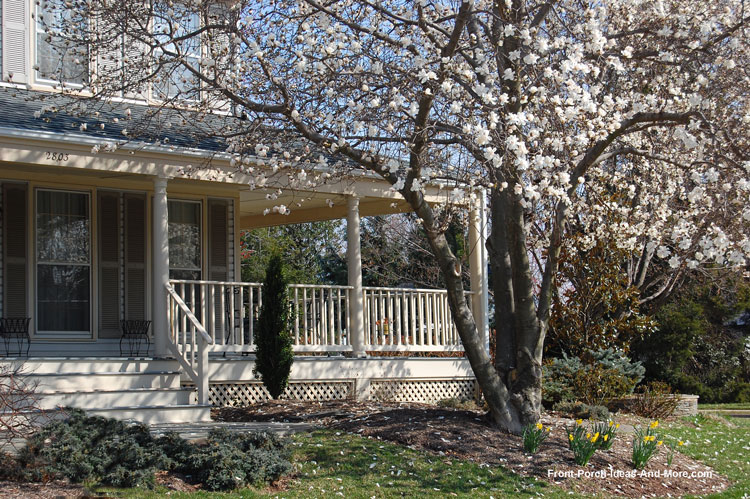 spring time front porch in Herndon VA
