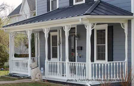Exterior house trim on small porch - wonderful enhancement
