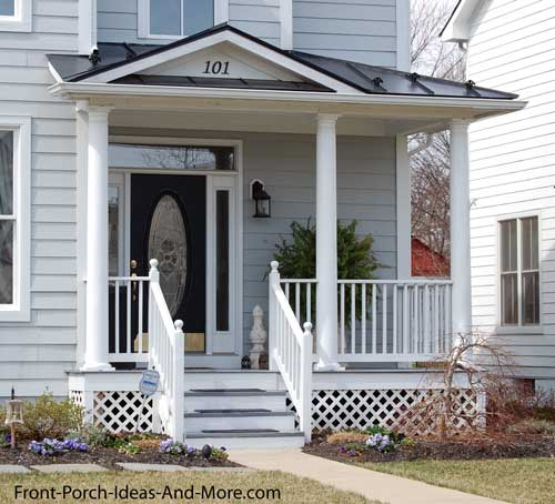 10 small front porch design ideas quotes for Balcony roof ideas