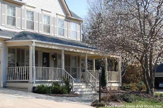spring time front porch in Herndon VA