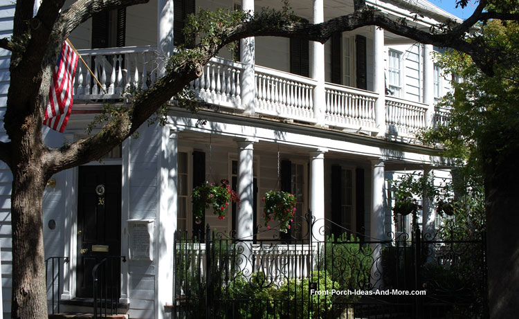 Oval front porch in Historic Charleston SC