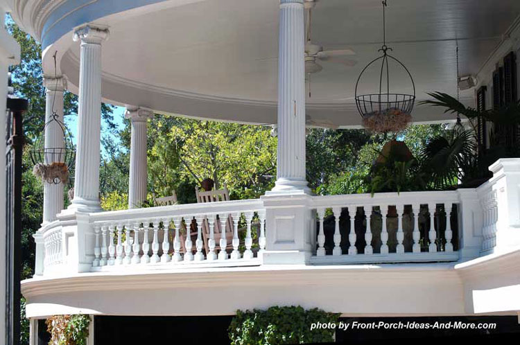 ionic porch columns on round porch