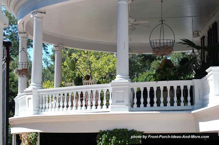 ionic porch columns on round porch