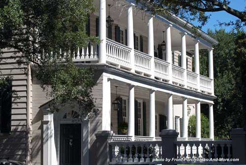 historic side porches in Charleston SC