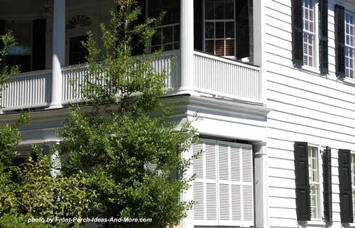 side porches with privacy screens