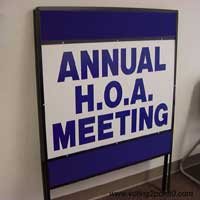 home owner association meeting sign