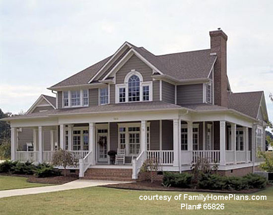 actual home built from family home plans - Front Porch Home Designs
