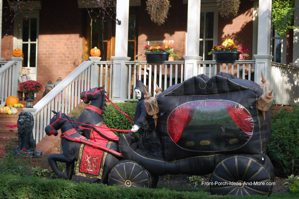 inflatable horse drawn hearse
