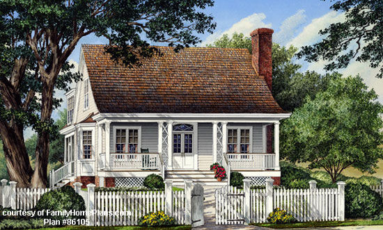 House Plans With Porches blueprint quickview front Charming House Plan With Front Porch Family Home Plan 86105