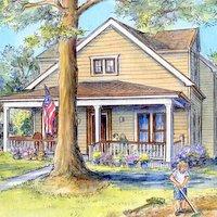 Custom house portrait by Leisa Collins