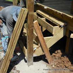 framer building deck steps