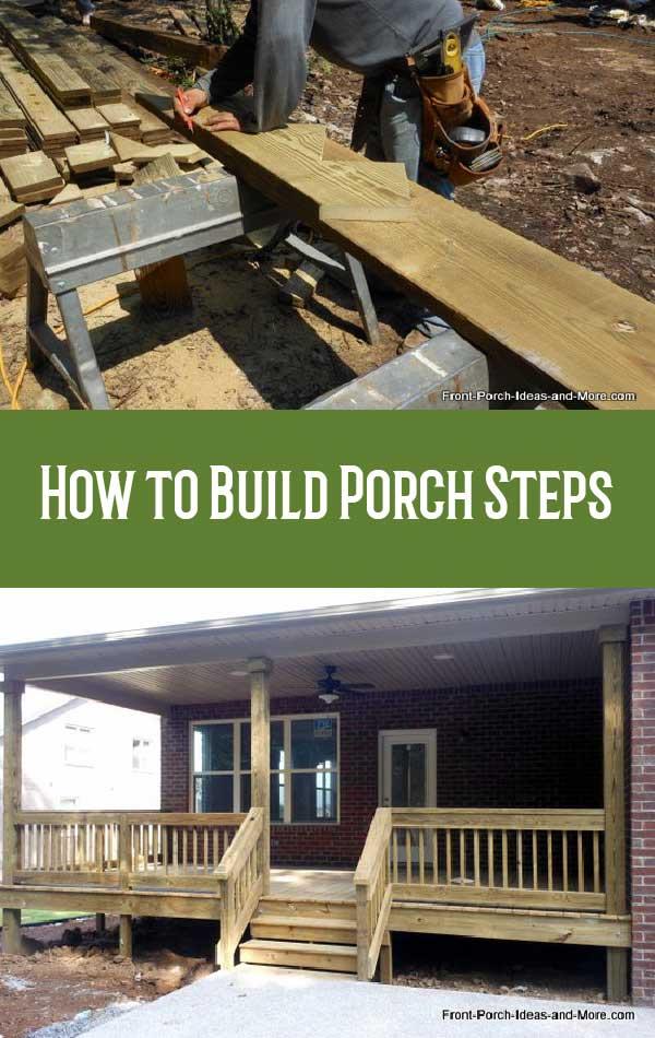 how to build steps how to build a porch porch steps
