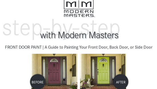 how to paint door guide by Modern Masters