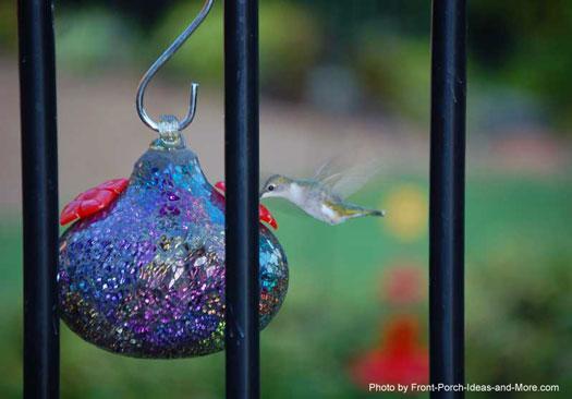 Our sparkly hummingbird feeder