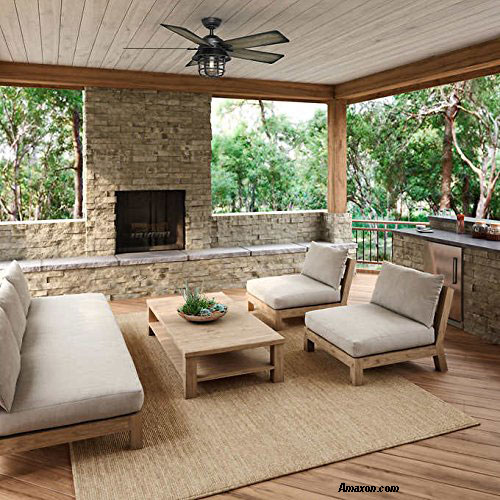 outdoor ceiling fan on porch