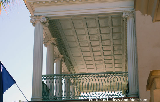 iconic columns on charleston SC porch