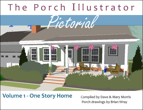 Great front porch designs illustrator on a basic ranch for Ideas for covered back porch on single story ranch