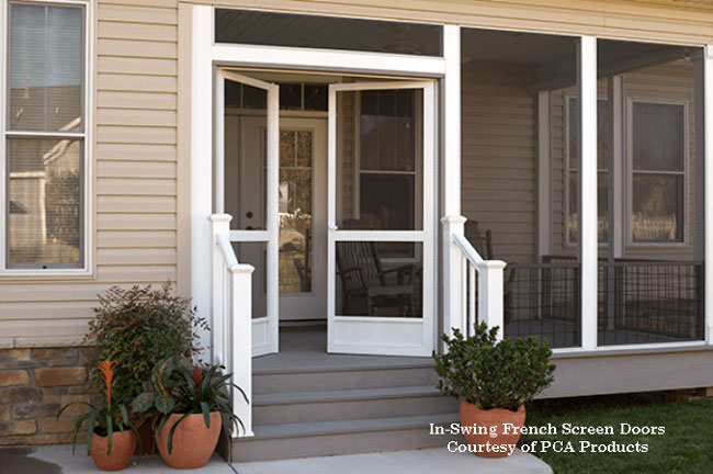 in-swing aluminum french screen door from pca products