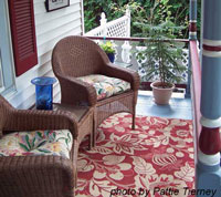 appealing outdoor rug on front porch