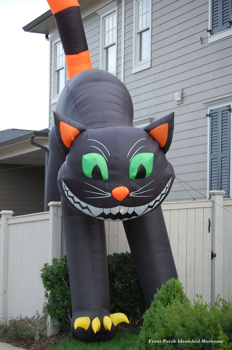 large inflatable halloween black cat