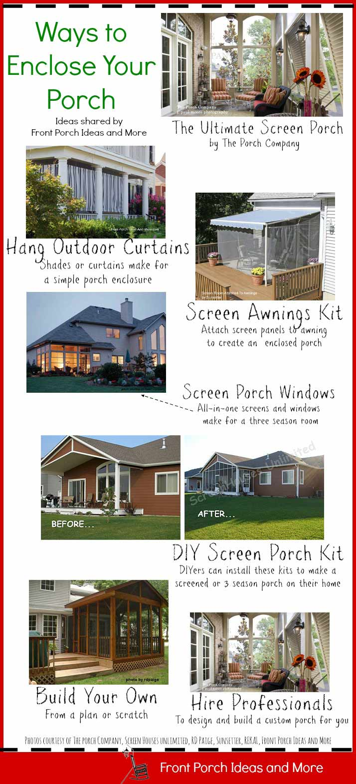 Porch enclosures ten great ideas to consider if you want an enclosed porch here are some ways to achieve that from solutioingenieria