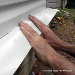 installing ledger flashing under siding
