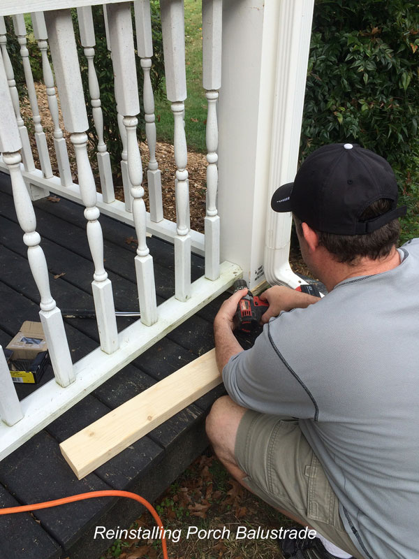 installing porch balustrade on front porch