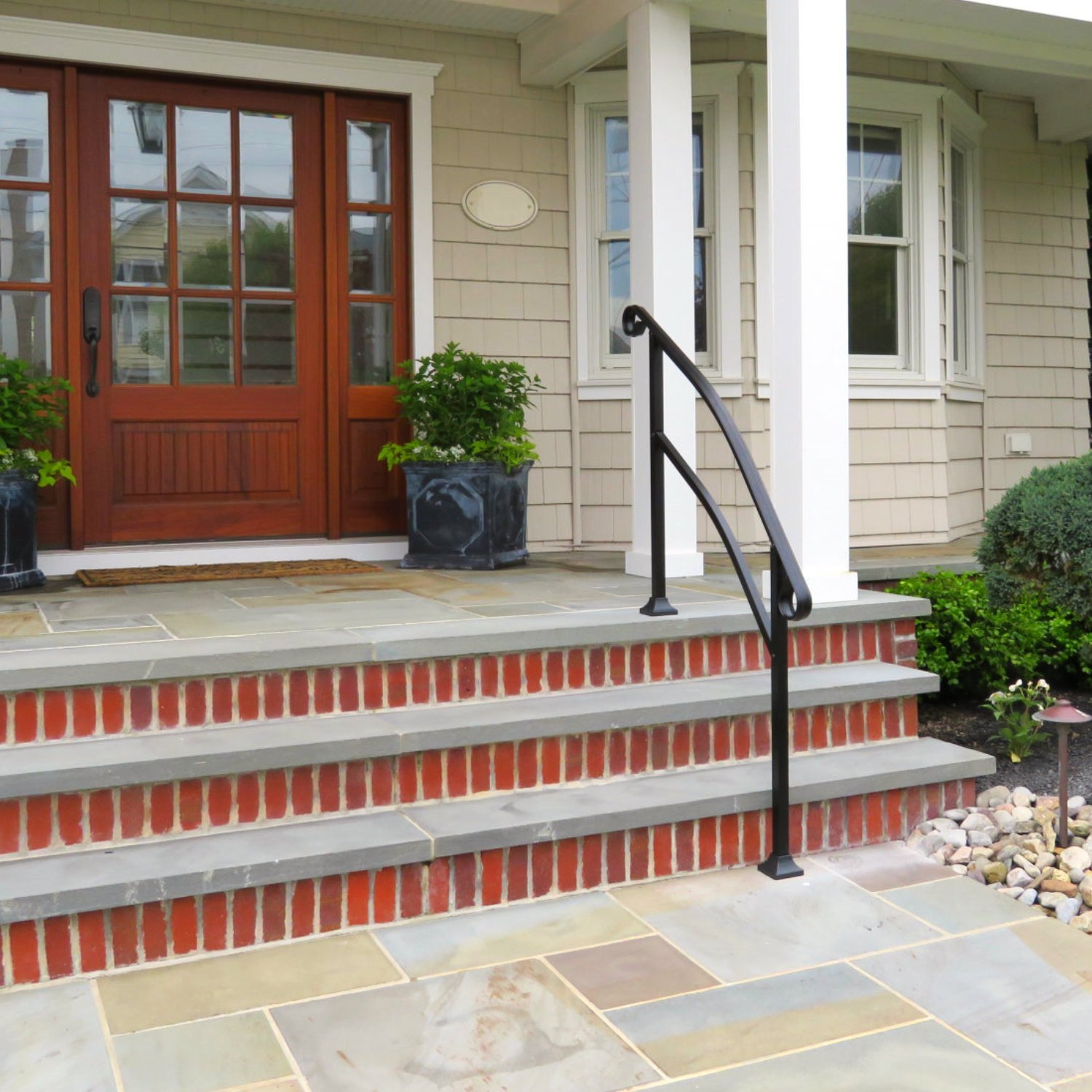 Stair hand rails for porches and decks for Building a front porch deck