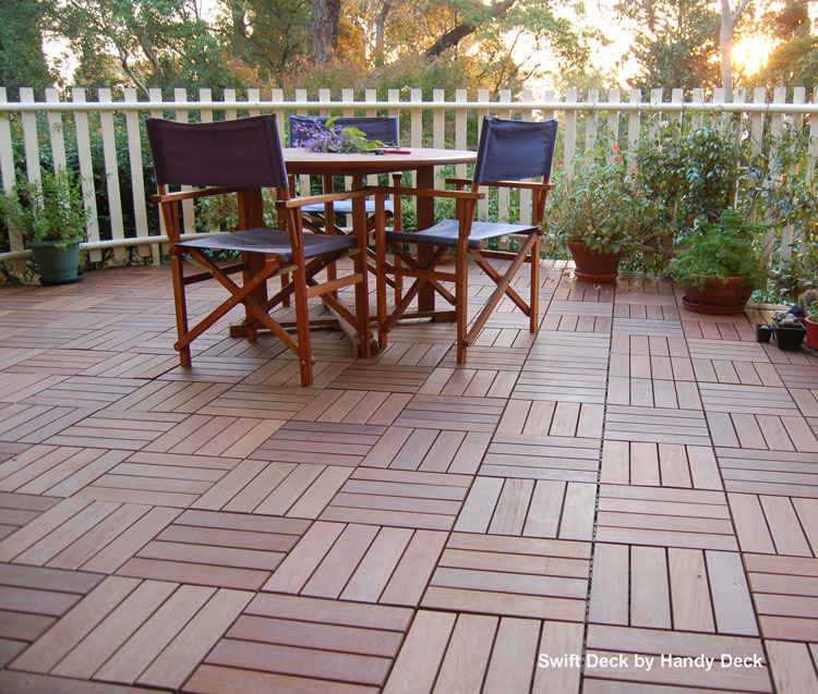 Attrayant Interlocking Deck Tiles With Beautiful Outdoor Deck Furniture From Handy  Deck