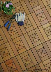 interlocking deck tile sample