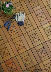 interlocking deck tile sample