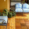 beautiful interlocking deck tiles on front porch