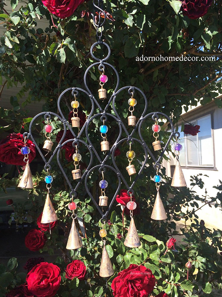 iron drop wind chimes for garden