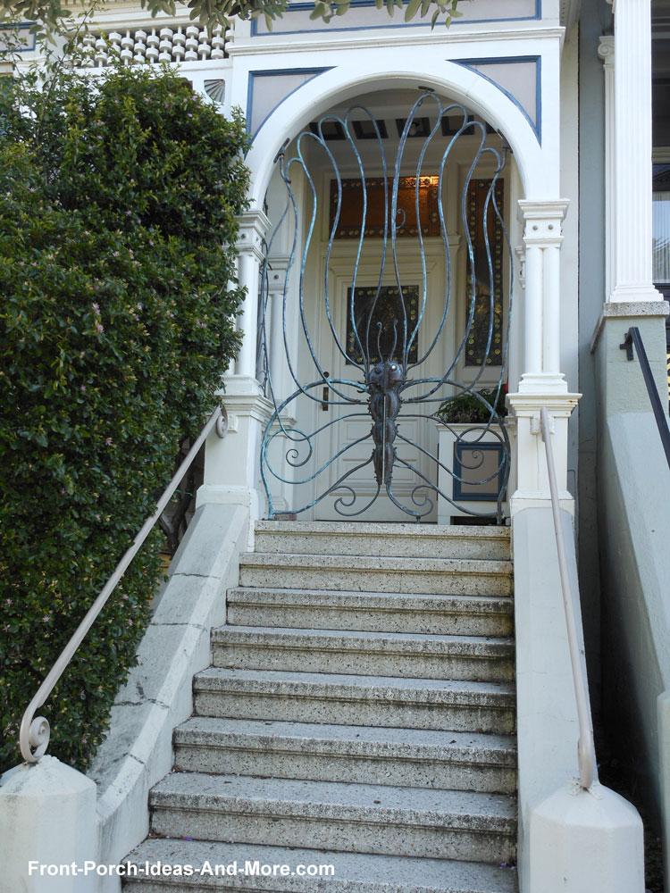 wrought iron porch gates