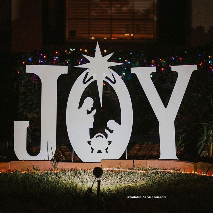 JOY navitity yard sign