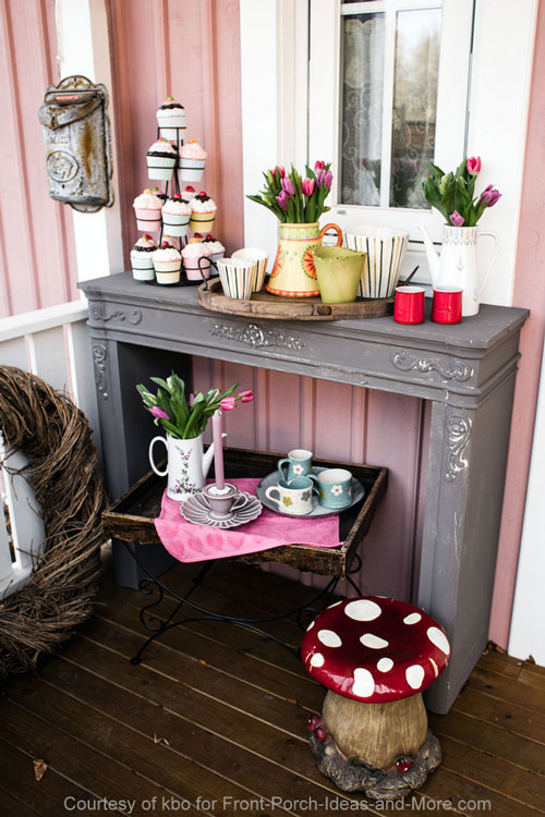 Such a sweet springtime porch!