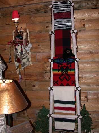 Kiva with blankets