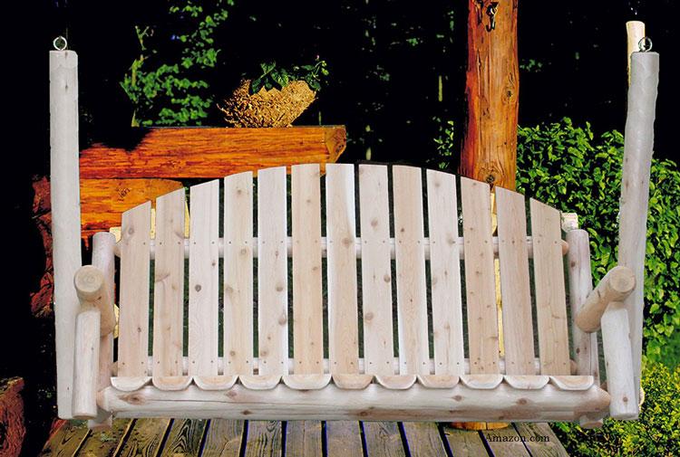 white cedar country porch swing