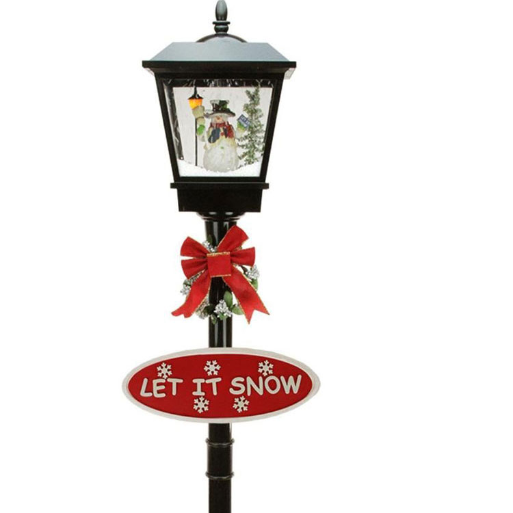 victorian style lamp post for christmas