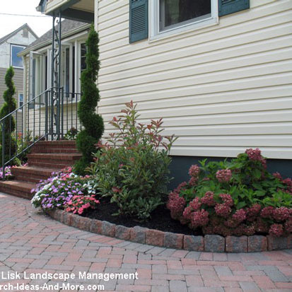 landscaping in front of home and porch