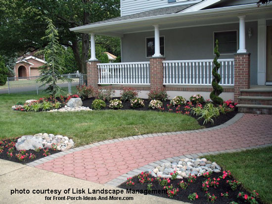 This Feature May Not Work On Mobile Devices. See Our Landscape Plant Chart  Below For Detailed Descriptions. Landscaped Front Yard ...