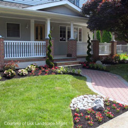 Lisk Landscape Management - beautiful front yard and walkway