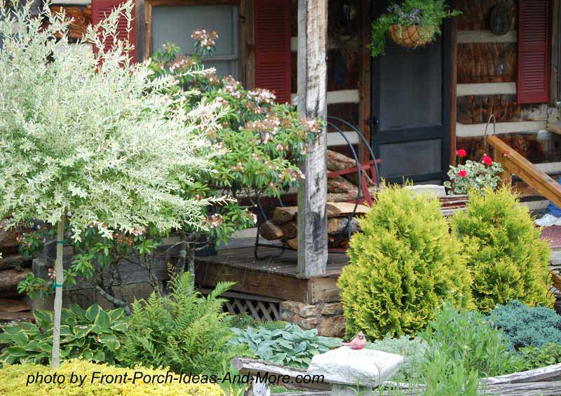 Landscaping Front Porch Ideas : Front yard landscaping and in particular highlight your porch