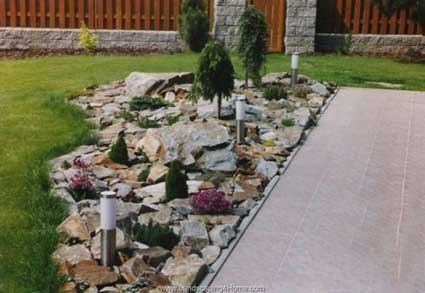 Landscaping with rocks around your porch for Stone landscaping ideas