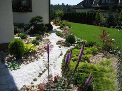 Rock gardening perfect for walkways