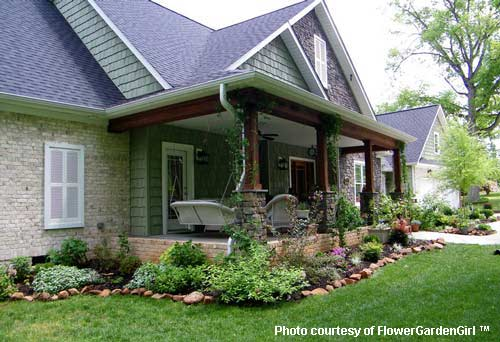 Landscaping Front Porch Ideas : Landscaping with rocks around your porch front yards garden