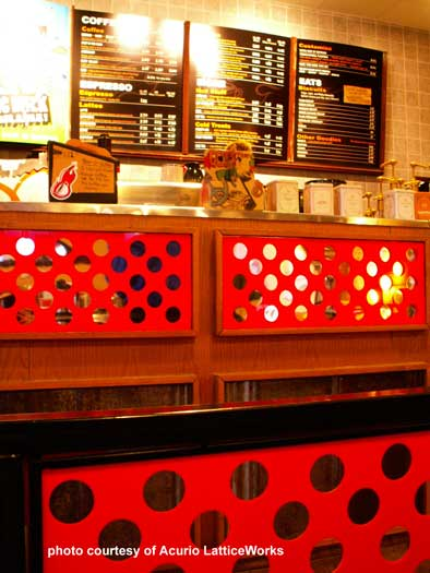 vinyl lattice restaurant dividers